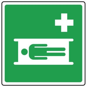 Safe condition and first aid signs - First aid bed