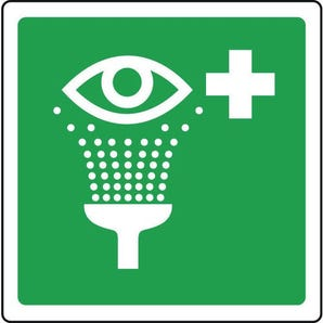 Safe condition and first aid signs - Eyewash pictorial with first aid sign