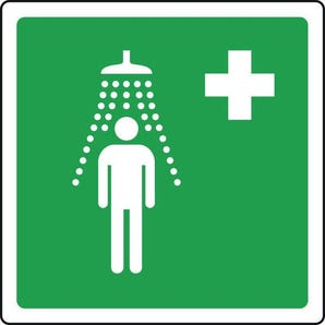 Safe condition and first aid signs - Emergency shower pictorial with first aid sign