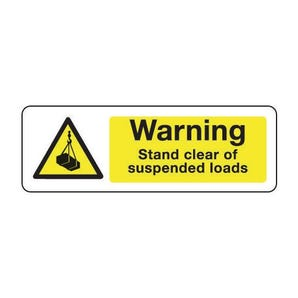 Construction and general hazards - Warning stand clear of suspended loads
