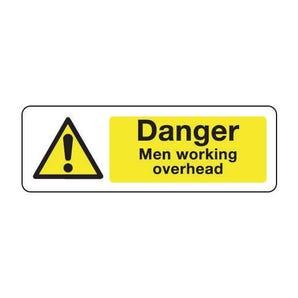 Construction and general hazards - Danger men working overhead