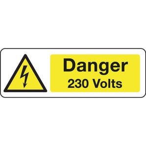 Electrical hazard signs - Danger 230 volts