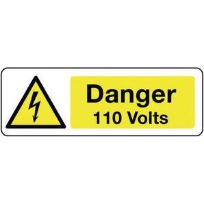 Electrical hazard signs - Danger 110 volts