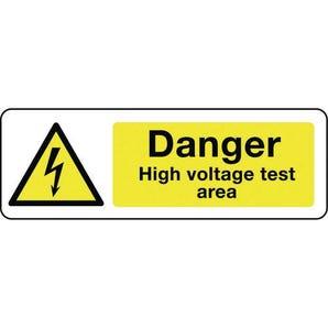Electrical hazard signs - Danger high voltage test area