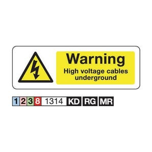 Electrical hazard signs - Warning high voltage cables underground