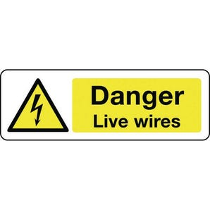 Electrical hazard signs - Danger live wires