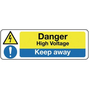 Electrical hazard signs - Danger high voltage keep away