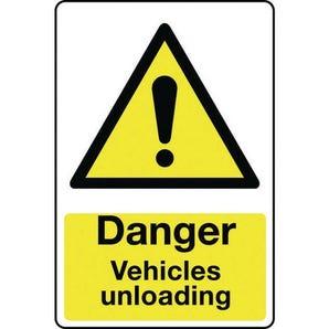 Vehicle hazard signs - Danger vehicles unloading