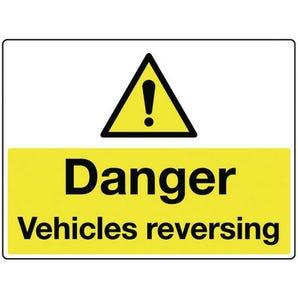 Vehicle hazard signs - Danger vehicles reversing
