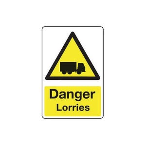 Vehicle hazard signs - Danger lorries