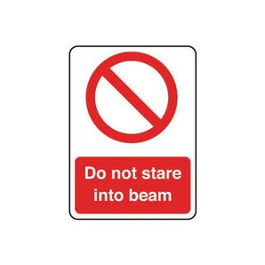Laser and radiation signs - Do not stare into beam