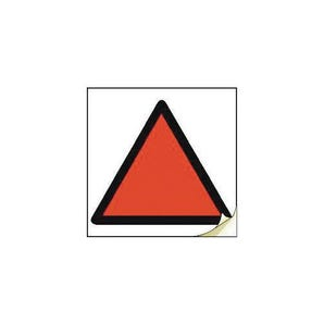 Hand arm vibration safety - Red triangle