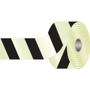 Photoluminescent obstacles & dangerous location tape
