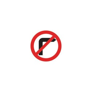 Road traffic signs - No right turn