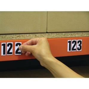 Magnetic numbers and letters - White numbers and letters