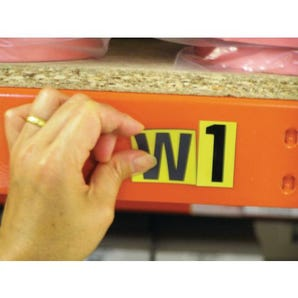 Magnetic numbers and letters - Yellow numbers and letters