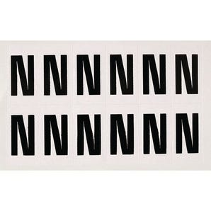 Numbers and letters black on white - Letter N