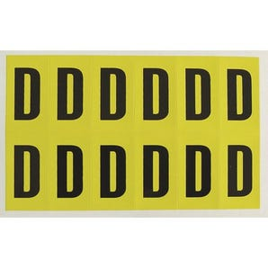 Self-adhesive numbers and letters - Letter D