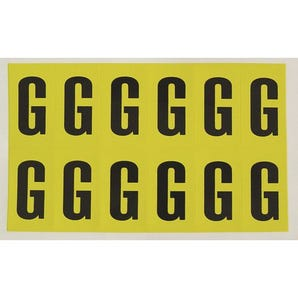Self-adhesive numbers and letters - Letter G