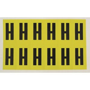 Self-adhesive numbers and letters - Letter H