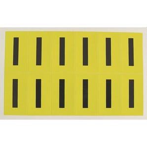 Self-adhesive numbers and letters - Letter I