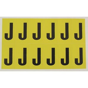 Self-adhesive numbers and letters - Letter J