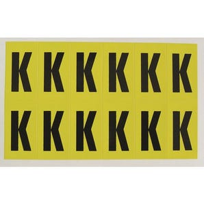 Self-adhesive numbers and letters - Letter K