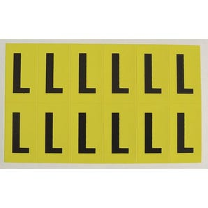 Self-adhesive numbers and letters - Letter L