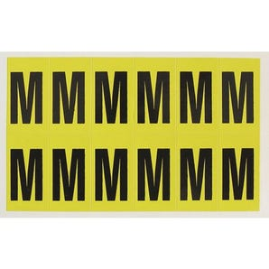 Self-adhesive numbers and letters - Letter M