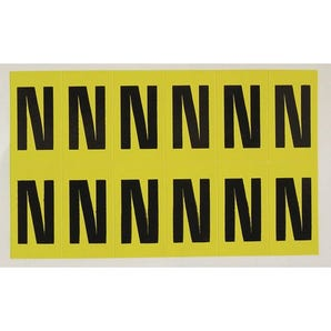 Self-adhesive numbers and letters - Letter N