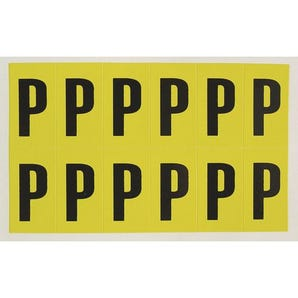 Self-adhesive numbers and letters - Letter P