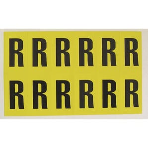 Self-adhesive numbers and letters - Letter R
