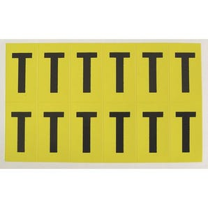 Self-adhesive numbers and letters - Letter T