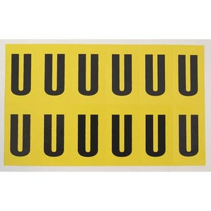 Self-adhesive numbers and letters - Letter U