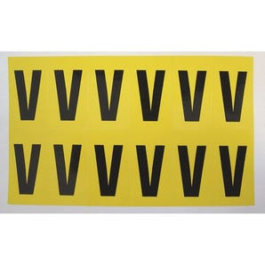 Self-adhesive numbers and letters - Letter V