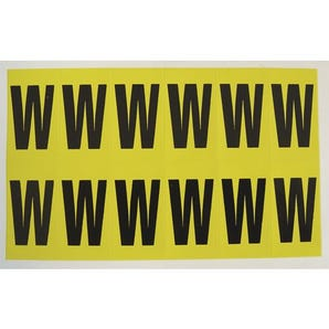 Self-adhesive numbers and letters - Letter W