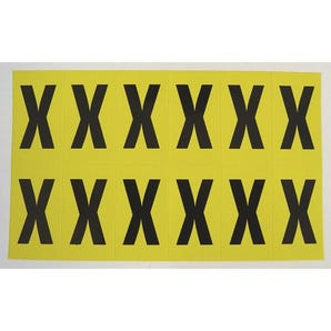 Self-adhesive numbers and letters - Letter X