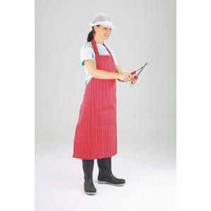 PU/nylon polyester twin stripe butchers aprons