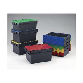 Colour coded attached lid containers