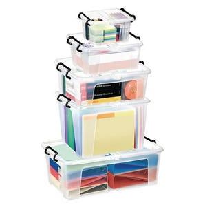 Transparent boxes with secure folding lids