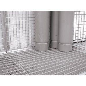 Gas cylinder storage cages - Optional floor grid
