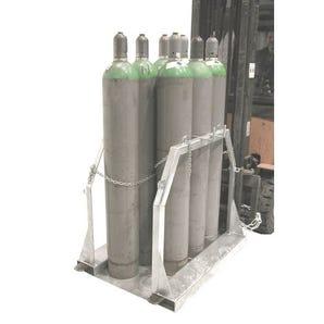 Gas cylinder storage pallets
