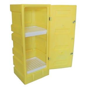 Small plastic hazardous storage cabinets