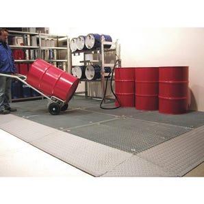 Heavy duty galvanised steel sump flooring - Platform with grid