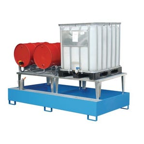 Steel IBC sump pallets