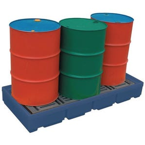 Polyethylene sump pallets - 1 to 4 drum capacity
