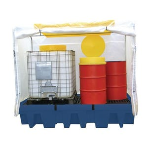 Polyethylene sump pallets with covers