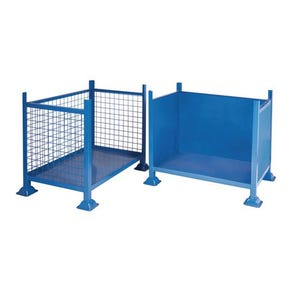 Steel box pallets with open front, 1000kg capacity