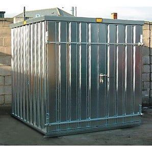 Quick building temporary storage units