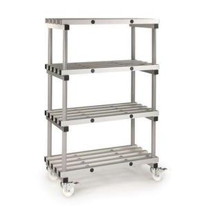 Anodised aluminium shelving - up to 480kg - Mobile units